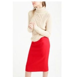 NWOT J. Crew The Pencil Skirt in Double-Serge Wool